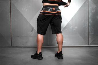SAMURU Performance Shorts - Black & Dutch Orange