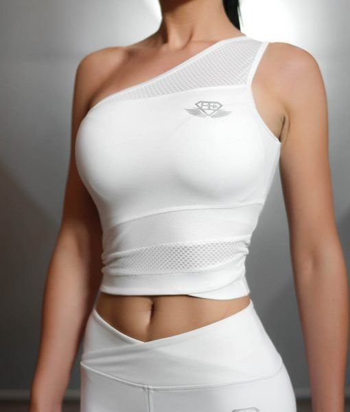 CHIONE Crop Top - White Ivory