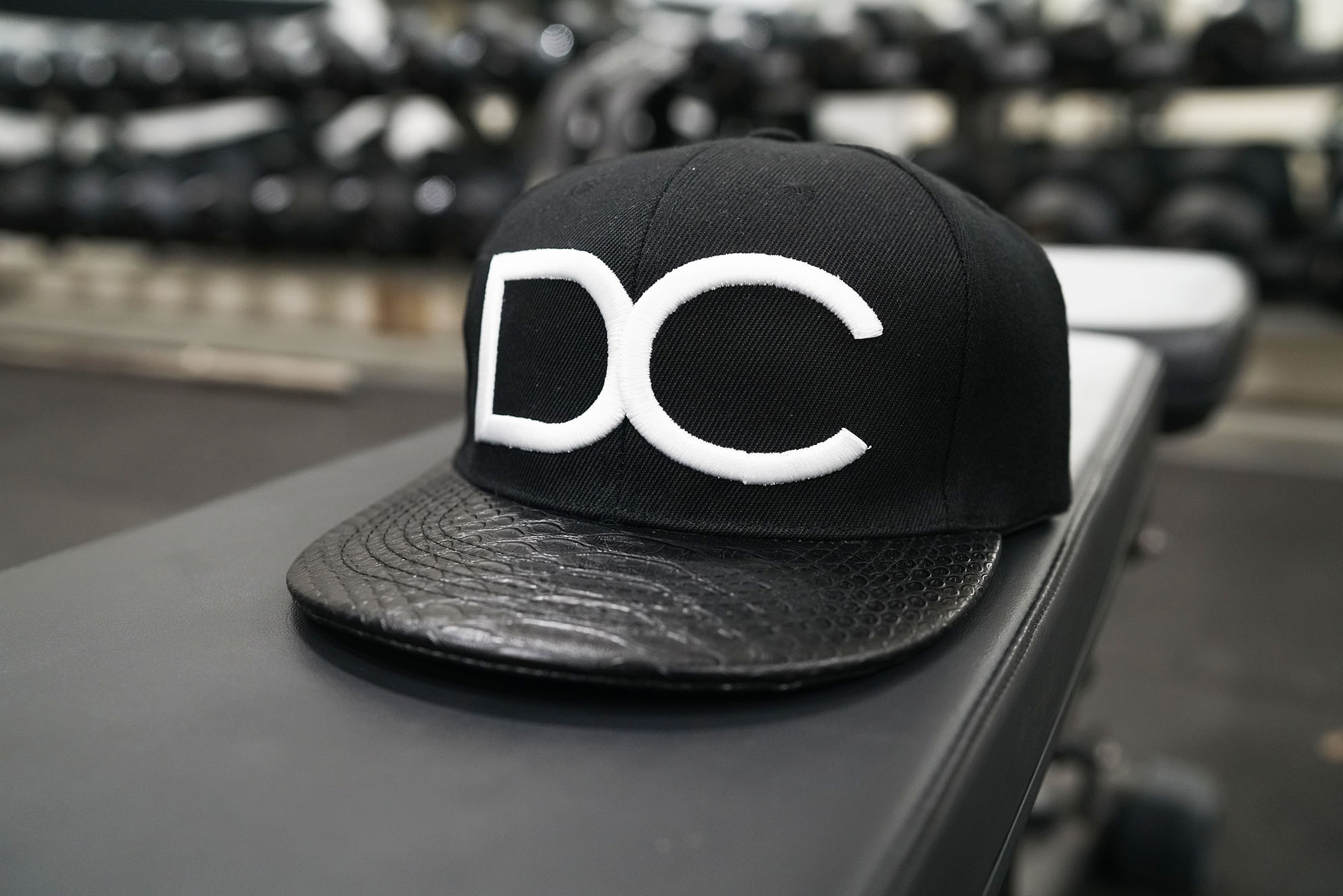 Dream Chaser Snapback - BLACK & WHITE REPTILE