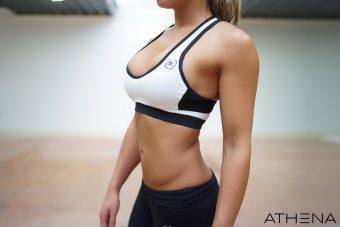 ATHENA Deep-V Sport Bra - White