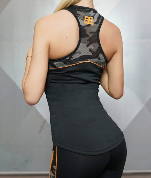 ARES Tank Top - Black & Dutch Orange