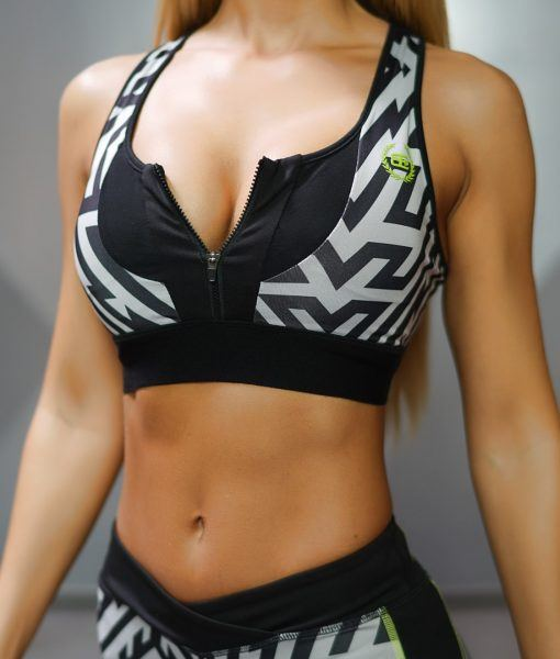 LOTUS Tesla Sports Bra - Black/Grey