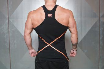 XA1 stringer - Black & Dutch Orange