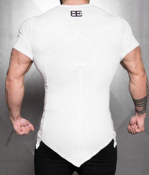 YUREI KONSTRUKT asymmetric V neck - White Out
